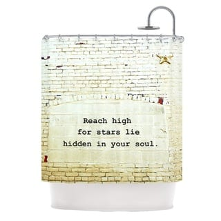 Kess InHouse Robin Dickinson Reach High Brick Wall Shower Curtain