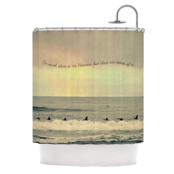 Kess InHouse Robin Dickinson Pieces of Heaven Tan Beach Shower Curtain