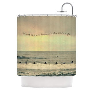 Kess InHouse Robin Dickinson Pieces of Heaven Tan Beach Shower Curtain