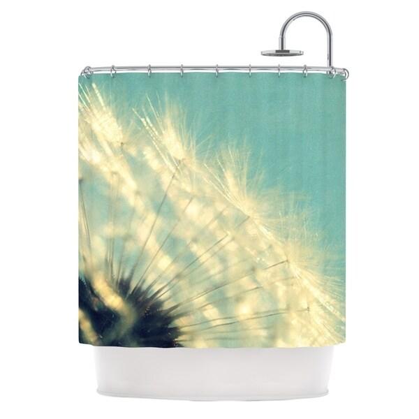 Kess InHouse Robin Dickinson Just Dandy Blue White Shower Curtain