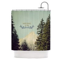 Kess InHouse Robin Dickinson Happy Trails Green Shower Curtain