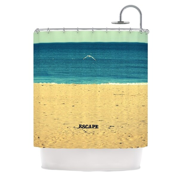 Kess InHouse Robin Dickinson Escape Beach Sand Shower Curtain