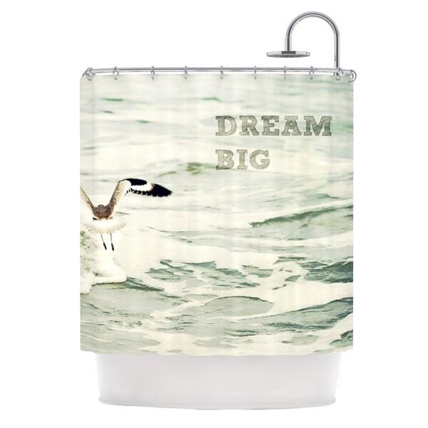 Kess InHouse Robin Dickinson Dream Big Ocean Bird Shower Curtain