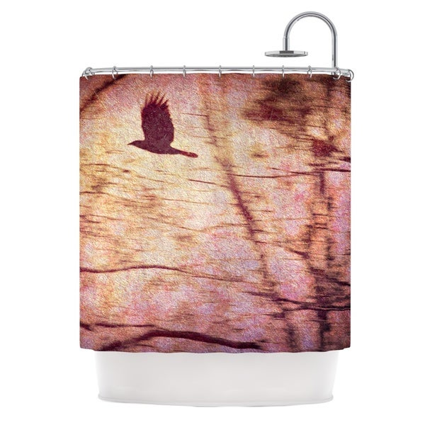 Kess InHouse Robin Dickinson Midnight Dreary Pink Tree Shower Curtain