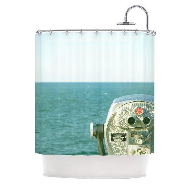 Kess InHouse Robin Dickinson Ocean View Ocean Blue Shower Curtain