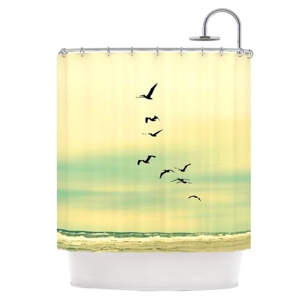 Kess InHouse Robin Dickinson Across The Endless Sea Birds Shower Curtain