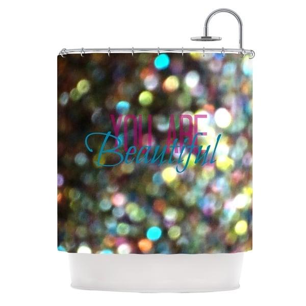 Kess InHouse Robin Dickinson You Are Beautiful II Art Object Shower Curtain