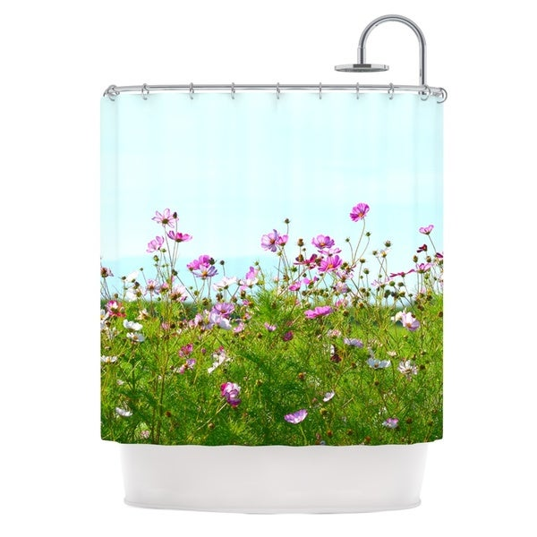 Kess InHouse Robin Dickinson I Choose Magic Flowers Shower Curtain