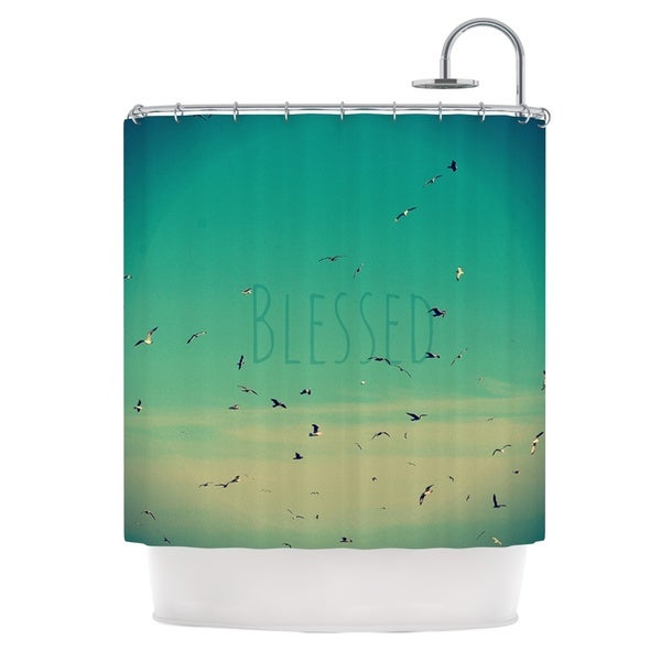 Kess InHouse Robin Dickinson Blessed Birds Shower Curtain