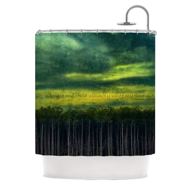 Kess InHouse Robin Dickinson I Like this Place Shower Curtain