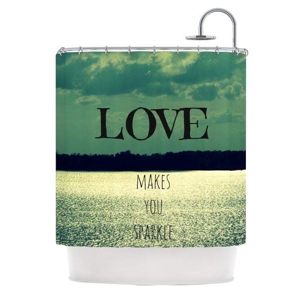 Kess InHouse Robin Dickinson Love Makes You Sparkle Shower Curtain
