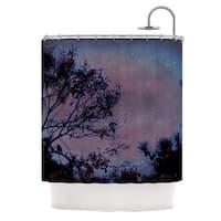 Kess InHouse Robin Dickinson Twilight Purple Tree Shower Curtain