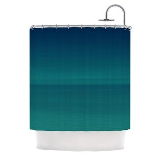 Kess InHouse Robin Dickinson When We're Together Teal Shower Curtain