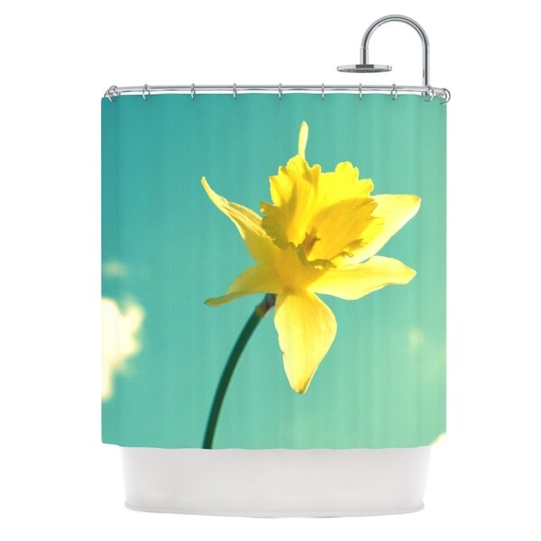 Kess InHouse Robin Dickinson Daffodil Shower Curtain