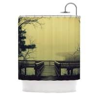 Kess InHouse Robin Dickinson Fog On The River Shower Curtain