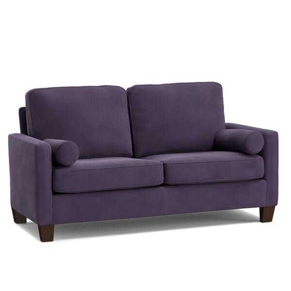 Shop Handy Living Espen Plum Purple Velvet SoFast Small