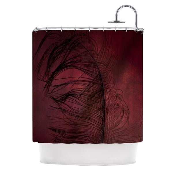 Kess InHouse Robin Dickinson Plumtickled Maroon Red Shower Curtain