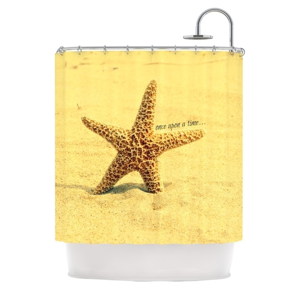 Kess InHouse Robin Dickinson Once Upon a Time Starfish Shower Curtain
