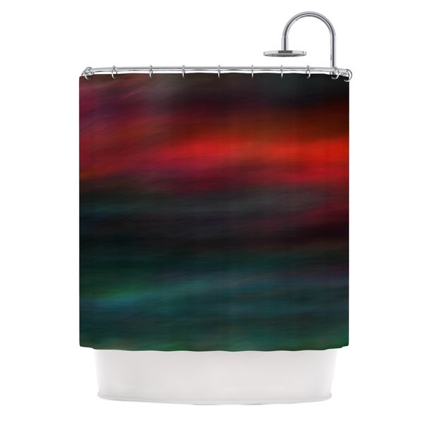 Kess InHouse Robin Dickinson Haunted Red Teal Shower Curtain