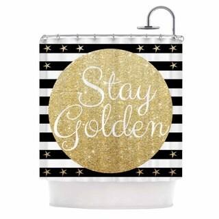 Thumbprintz Be Amazing Black and Gold Shower Curtain - Free ...