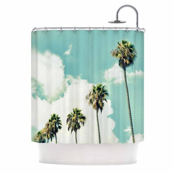 Kess InHouse Richard Casillas Paradise and Heaven  Blue White Shower Curtain