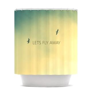 Kess InHouse Richard Casillas Let's Fly Away Shower Curtain