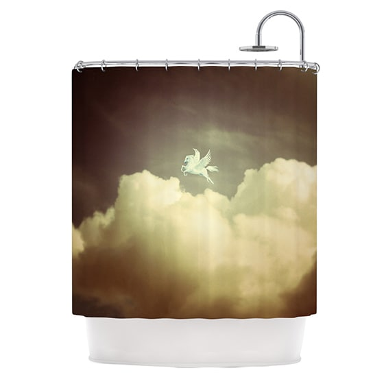 KESS InHouse Richard Casillas Pegasus Shower Curtain (69x70)