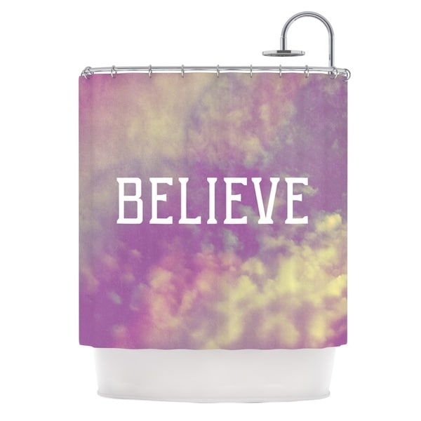 Kess InHouse Rachel Burbee Believe Purple Clouds Shower Curtain