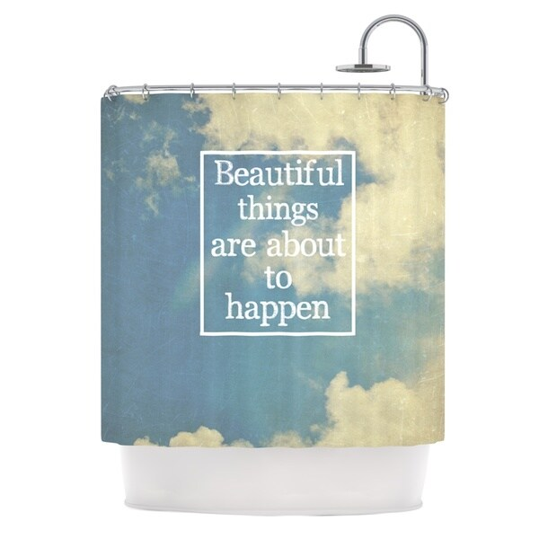 Kess InHouse Rachel Burbee Beautiful Things Sky Clouds Shower Curtain 21677601