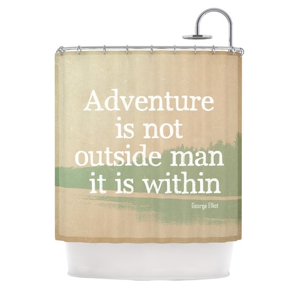 Kess InHouse Rachel Burbee Adventure Nature Typography Shower Curtain