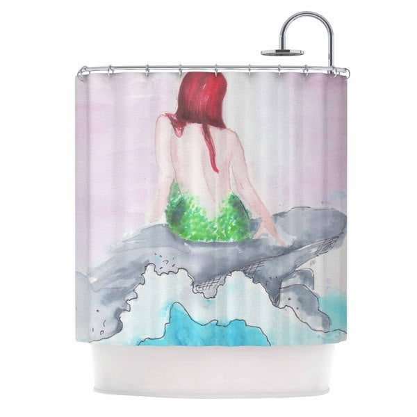 Kess InHouse Rebecca Bender Longing To Be Free Fantasy Painting Shower Curtain