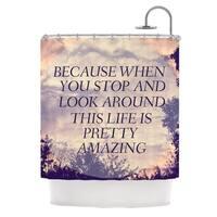Kess InHouse Rachel Burbee Pretty Amazing Tan Sky Shower Curtain
