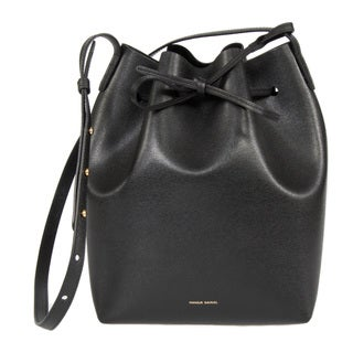 Mansur Gavriel Black w/ Black Interior and Gold Hardware Bucket Handbag
