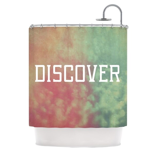 Kess InHouse Rachel Burbee Discover Green Orange Shower Curtain