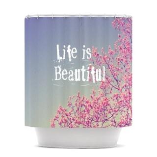 Kess InHouse Rachel Burbee Life Is Beautiful Shower Curtain 21677637