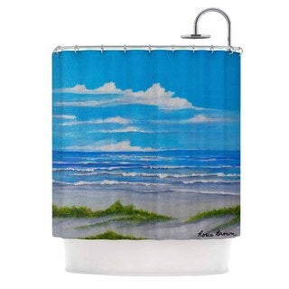 Kess InHouse Rosie Brown Sanibel Island Coastal Painting Shower Curtain