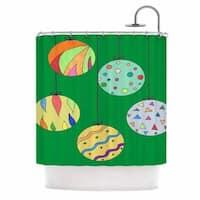 Kess InHouse Rosie Brown Trim The Tree Green Multicolor Shower Curtain