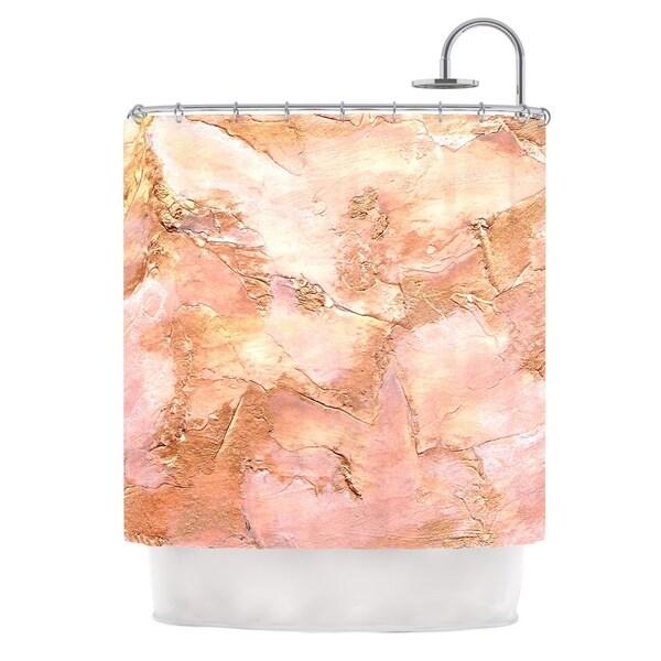Kess InHouse Rosie Brown Bronze It Orange Paint Shower Curtain