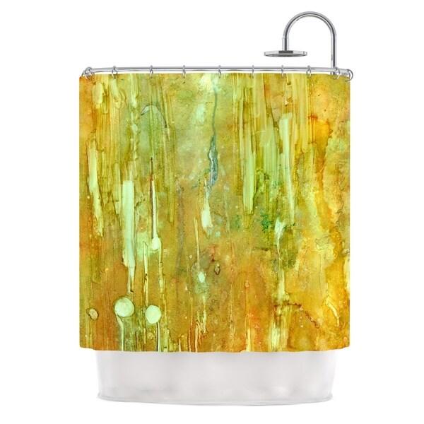 Kess InHouse Rosie Brown Rock City Yellow Painting Shower Curtain