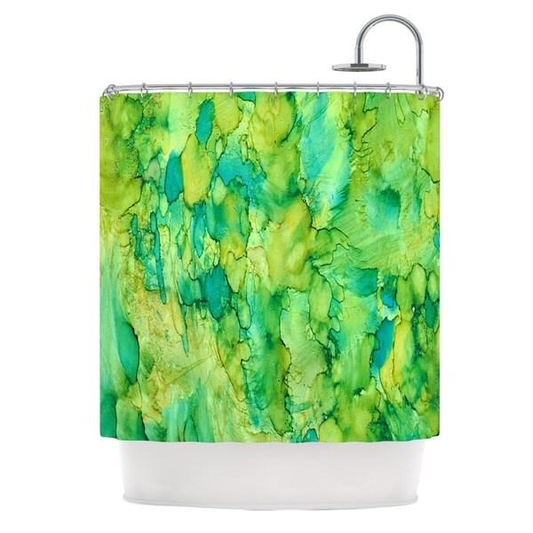 Kess InHouse Rosie Brown Going Green Emerald Shower Curtain