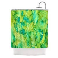Kess InHouse Rosie Brown Going Green Emerald Shower Curtain