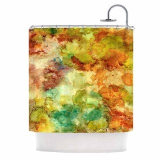 Kess InHouse Rosie Brown Fall Bouqet Yellow Orange Shower Curtain