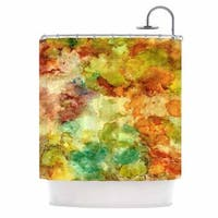 Kess InHouse Rosie Brown Fall Bouqet Yellow Orange Shower Curtain