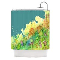 Kess InHouse Rosie Brown Sea Life II Teal Green Shower Curtain