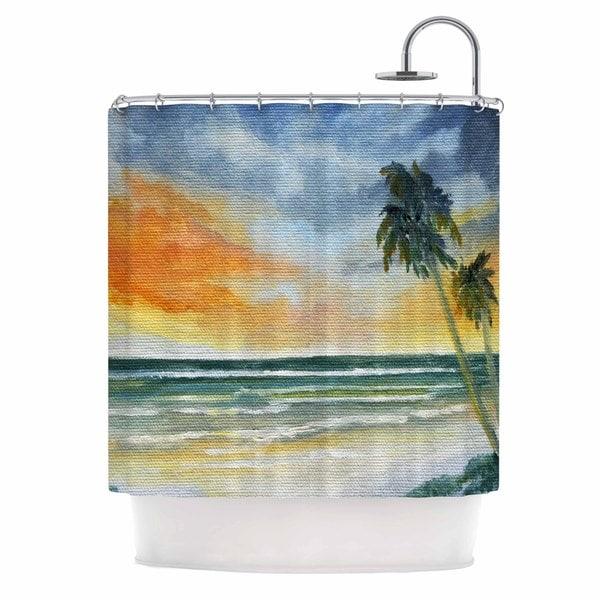 Kess InHouse Rosie Brown End of Day Beach Shower Curtain