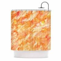 Kess InHouse Rosie Brown Autumn Orange Paint Shower Curtain