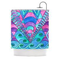 Kess InHouse Rosie Brown Gatsby Inspired Blue Pink Shower Curtain