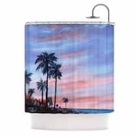 Kess InHouse Rosie Brown Florida Sunset Palm Tree Shower Curtain