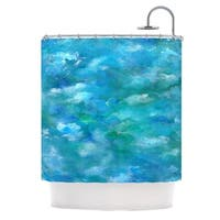 Kess InHouse Rosie Brown Ocean Waters Blue Aqua Shower Curtain
