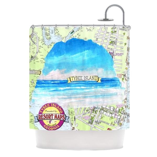 Kess InHouse Rosie Brown Tybee Island Ocean View Shower Curtain